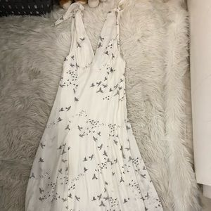 Print Dress with Cute Shoulder Detailing
